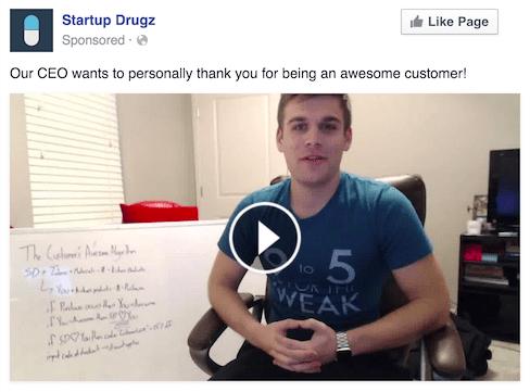 Quảng cáo cảm ơn khách hàng qua Facebook Ads
