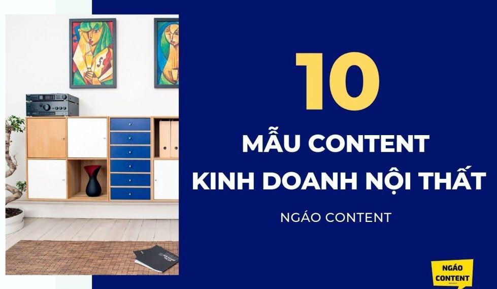 10 mẫu content nội thất CHẤT thu hút khách hàng tương tác