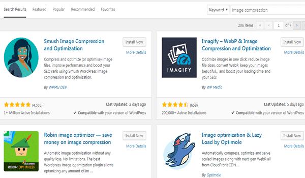 plugin nén ảnh trên nền tảng WordPress