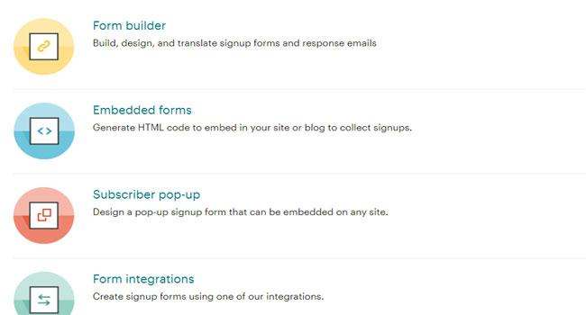MailChimp offers many features to customize the registration form
