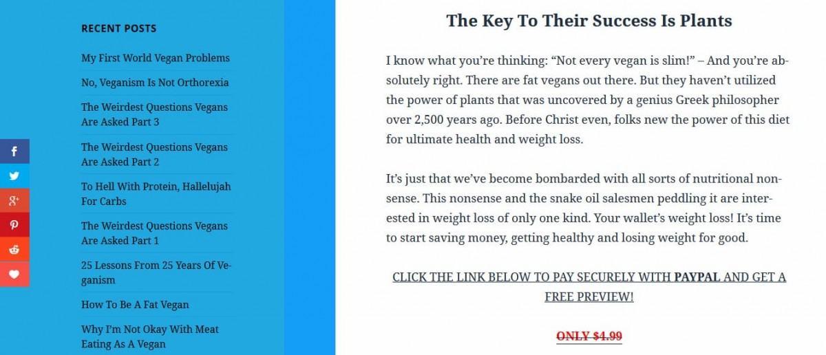 Sale Landing Page