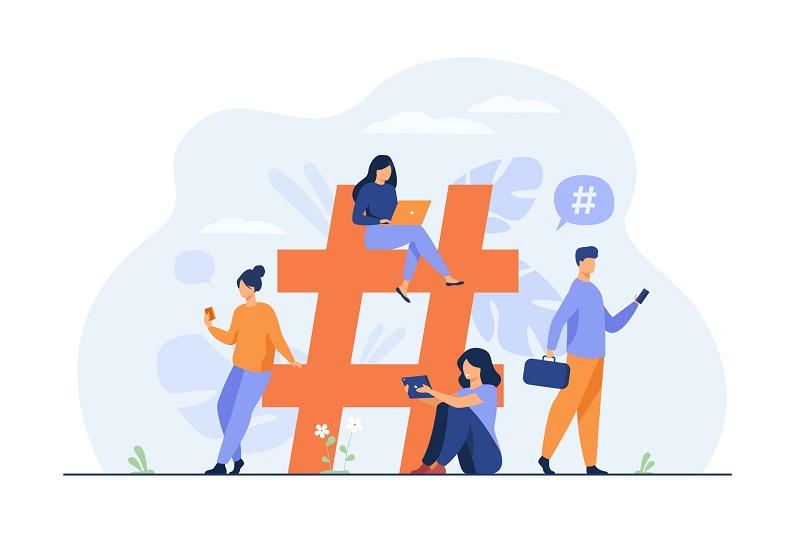 Hashtag sẽ giúp tăng thêm lượng reach và tăng độ phủ thương hiệu