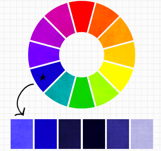 Cách phối màu đơn sắc