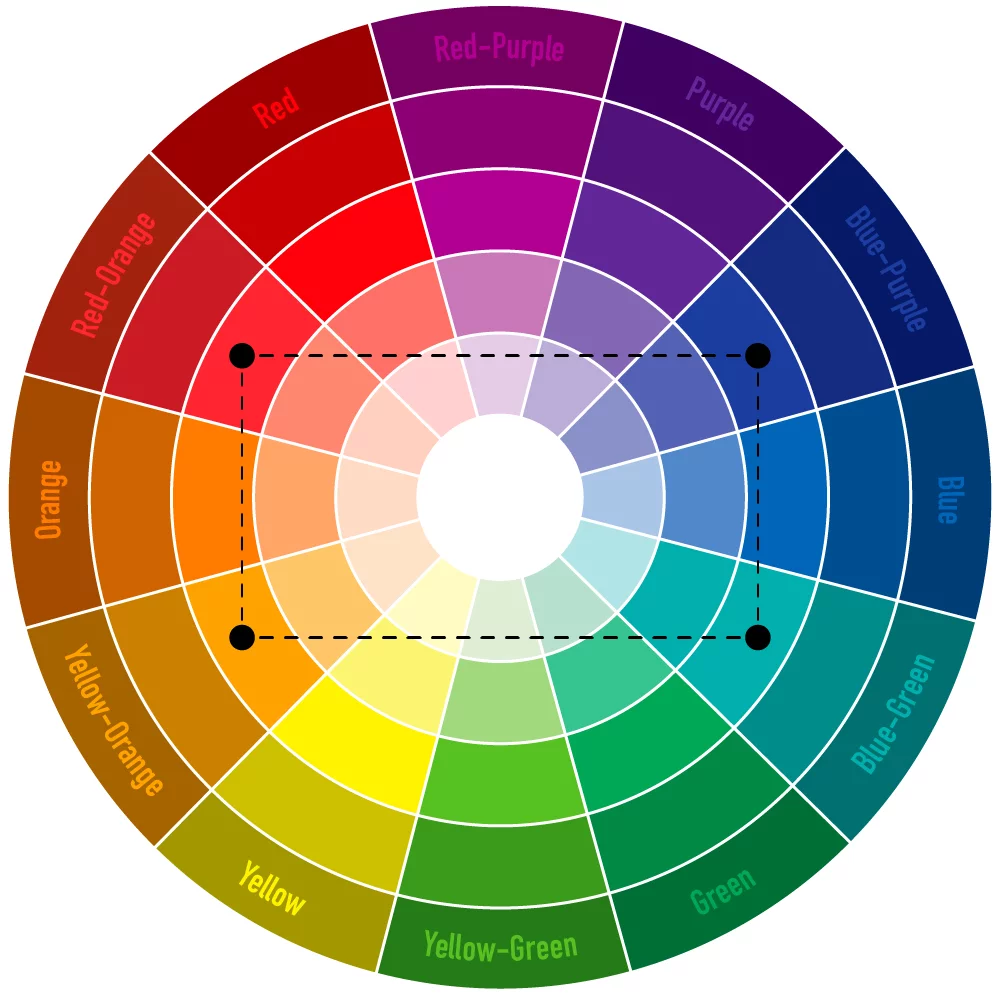 Cách phối màu tương phản bộ 4